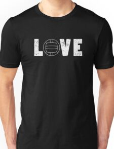 I Love Volleyball Illustrated Word Art Pun Funny Emoji Style Graphic Tee Shirt Unisex T-Shirt