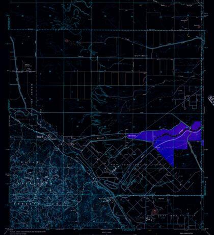 USGS TOPO Map California CA Tupman 301000 1954 24000 geo Inverted Sticker