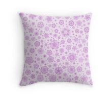 Fantastic flowers pattern (in purple) Throw Pillow