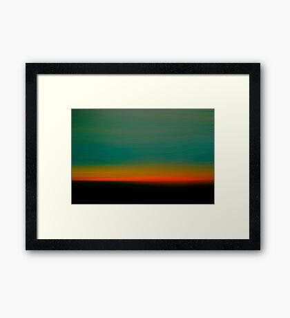 New Jersey Sunset Framed Print