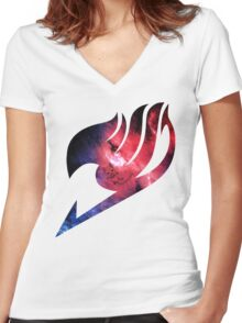 Happy Space Women's Fitted V-Neck T-Shirt