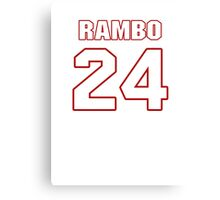 NFL Player Bacarri Rambo twentyfour 24 Canvas Print