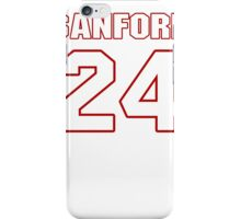 NFL Player Jamarca Sanford twentyfour 24 iPhone Case/Skin