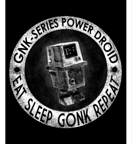 Star Wars Gonk Droid eat sleep gonk repeat Sticker