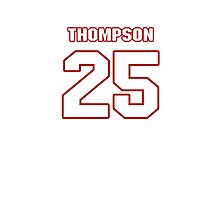 NFL Player Chris Thompson twentyfive 25 Photographic Print