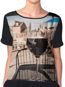 Glass of Wine Chiffon Top