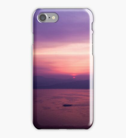 Mount Hakodate Sunset iPhone Case/Skin