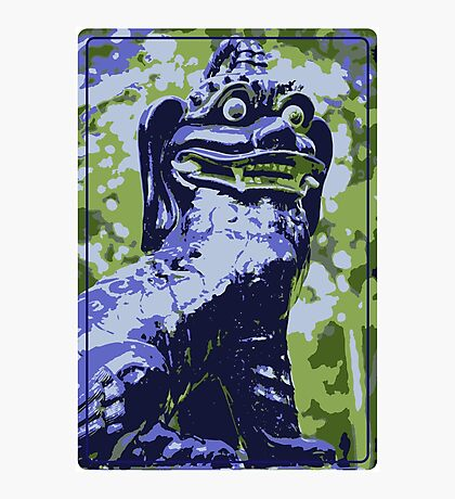 Blue Fu Dog  Photographic Print