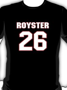 NFL Player Evan Royster twentysix 26 T-Shirt