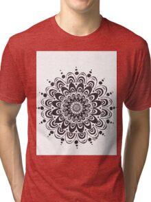 A Simple Love ~ Black & White Mandala Tri-blend T-Shirt