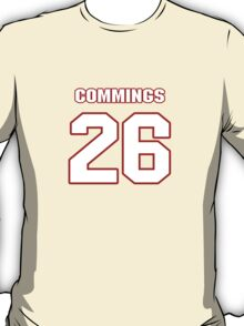 NFL Player Sanders Commings twentysix 26 T-Shirt