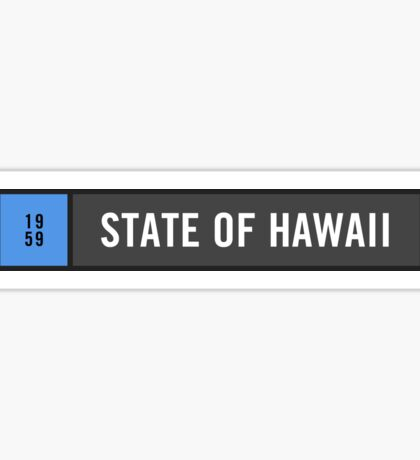 Hawaii - Minimalist Sticker