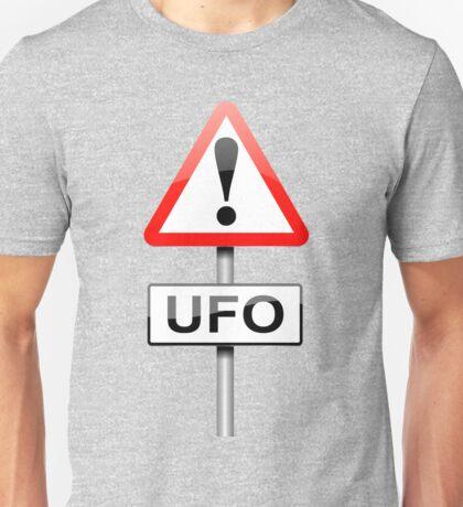 UFO warning. Unisex T-Shirt