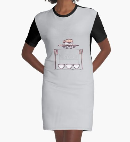 Sushi tightrope Graphic T-Shirt Dress