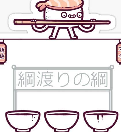 Sushi tightrope Sticker