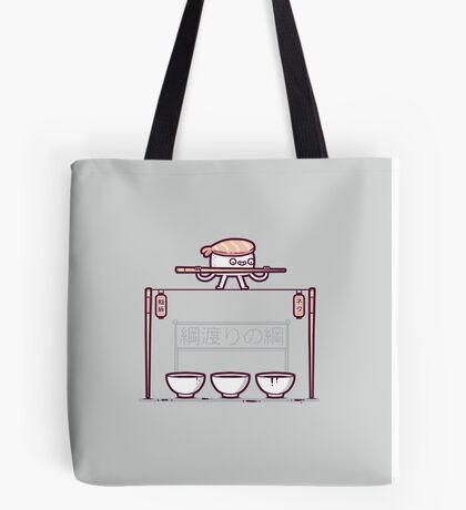 Sushi tightrope Tote Bag