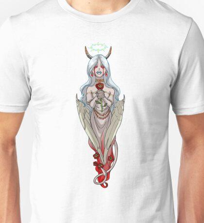 Demoness Demon Girl White Wings and Roses MONSTER GIRLS Series I Unisex T-Shirt