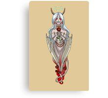 Demoness Demon Girl White Wings and Roses MONSTER GIRLS Series I Canvas Print