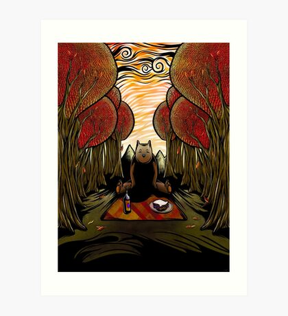 Bear Is There Art Print
