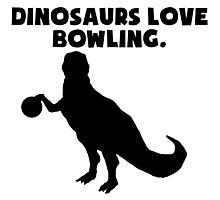 Dinosaurs Love Bowling Photographic Print