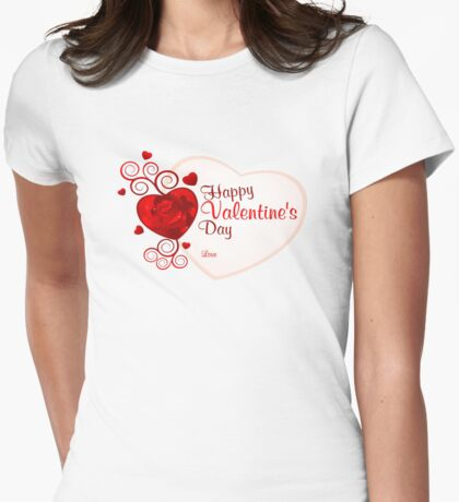 happy valentines day Womens Fitted T-Shirt