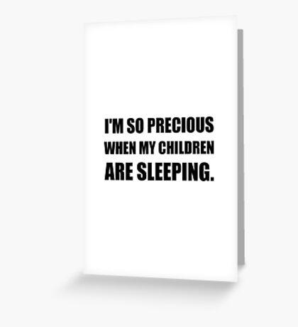 So Precious Children Sleeping Greeting Card