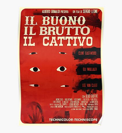 The Good, The Bad and The Ugly (Italian version) Poster