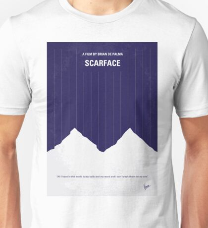 No158 My SCARFACE minimal movie poster Unisex T-Shirt