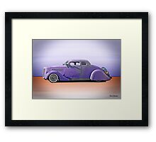 1936 Ford 'Tail Dragger' Custom Coupe Framed Print