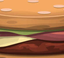 Glitch furniture table hearty hambuger table Sticker