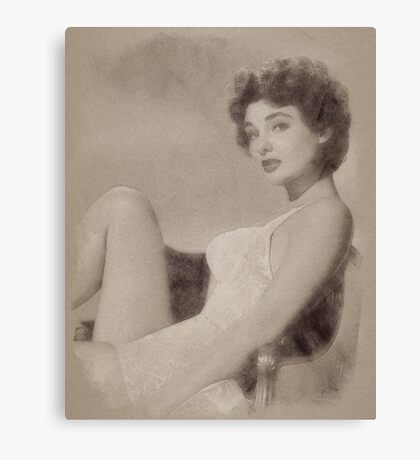 Allison Hayes, Vintage Actress and Pinup Canvas Print