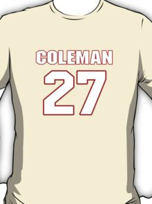 NFL Player Kurt Coleman twentyseven 27 T-Shirt
