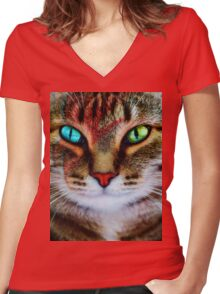 Kitty Stardust Women's Fitted V-Neck T-Shirt