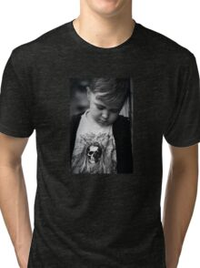 Q is for....Quit taking my photo mum I wanna play! Tri-blend T-Shirt