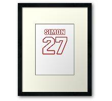 NFL Player Tharold Simon twentyseven 27 Framed Print
