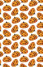 Spooky Halloween Pumpkin Pattern by Lisa Marie Robinson