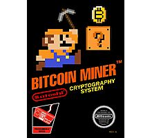 Bitcoin Geek Nintendo Gaming Funny Mario Mashup  Photographic Print