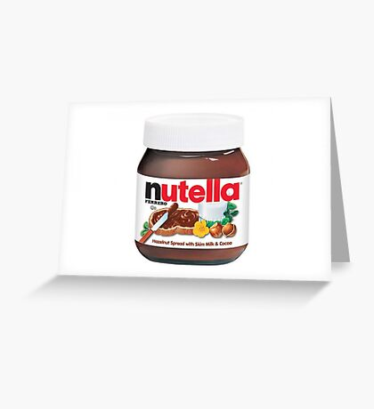 Nutella Spread Greeting Card