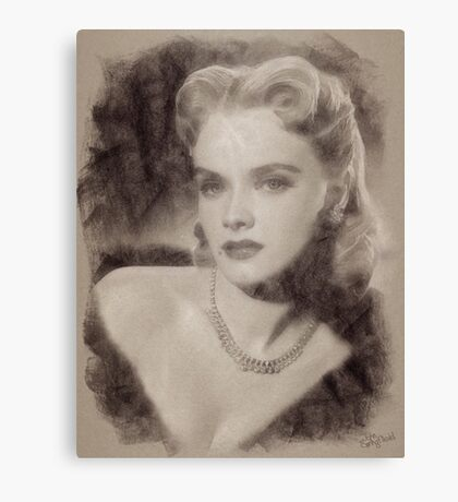 Anne Francis, Vintage Hollywood Actress Canvas Print