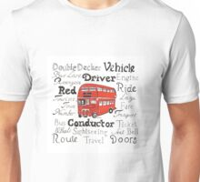 Double Decker Bus Design Unisex T-Shirt