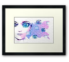 Painted beauty technology background Framed Print