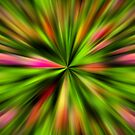 Vibrant Multi Colored Star Abstract by SmilinEyes