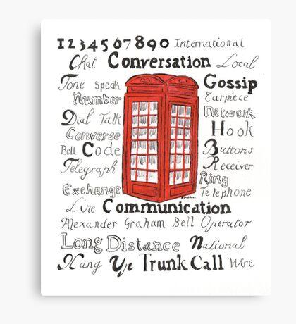 Telephone Box Design Canvas Print