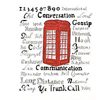 Telephone Box Design Photographic Print
