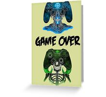 joystick zombie Greeting Card