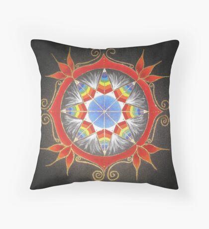 Troubled Earth ~ Tribal Mandala Throw Pillow