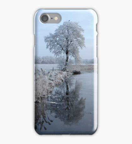 Tree reflection in Winter iPhone Case/Skin