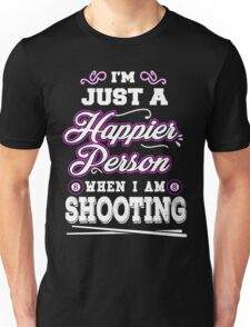 Happier When Play Billiards Funny T-shirts Unisex T-Shirt