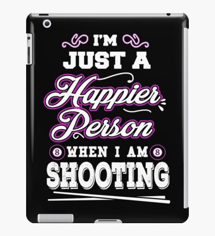 Happier When Play Billiards Funny T-shirts iPad Case/Skin
