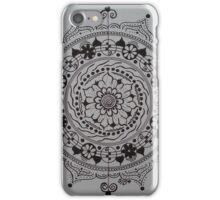 The Scribe ~ Black and White Mandala iPhone Case/Skin